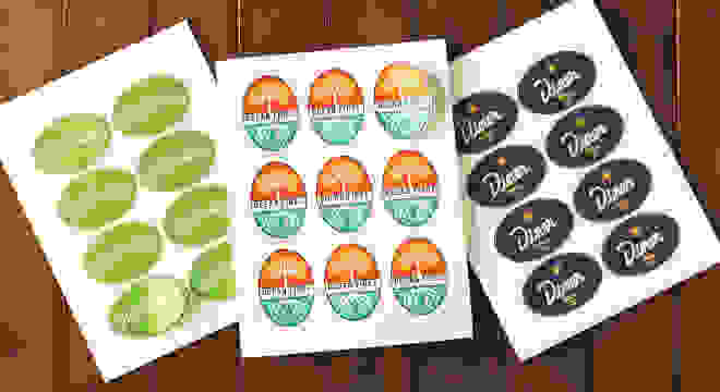 Sheets of custom oval labels