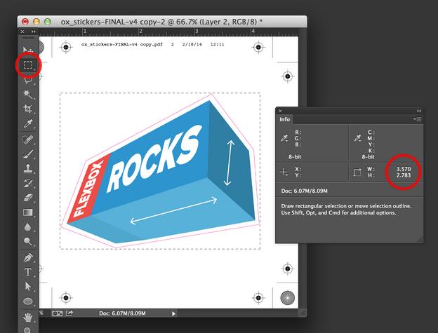 Dimensiones del PDF en Photoshop