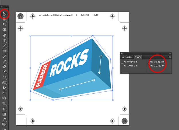 Dimensiones del PDF en Adobe Illustrator