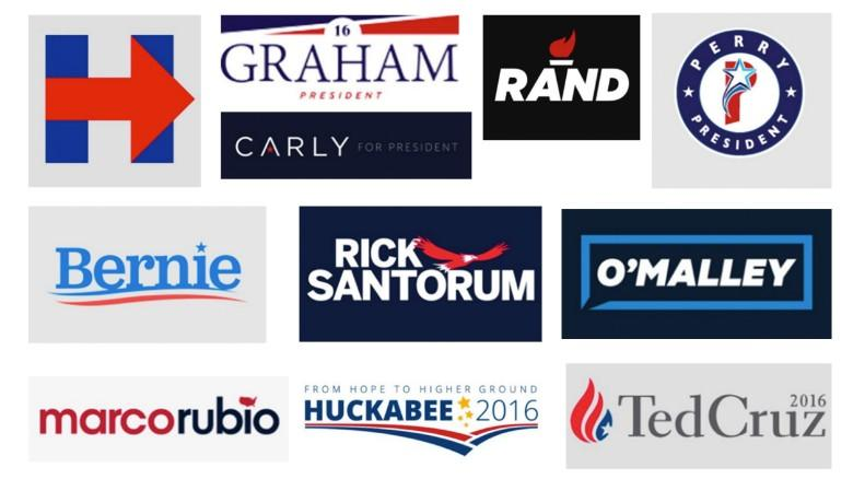 Logos for 2016 Presidential candidates