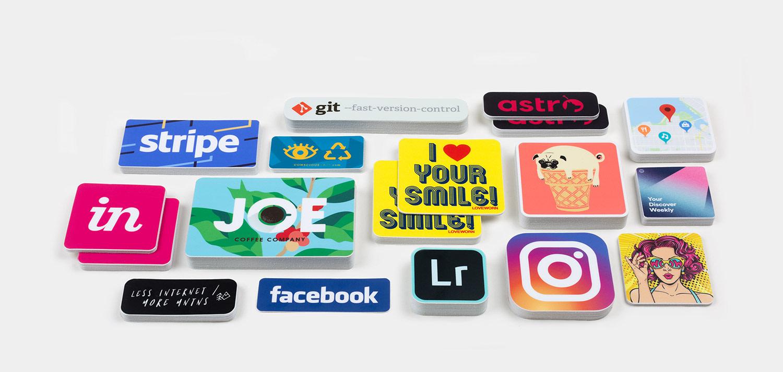 Stickers met ronde hoek
