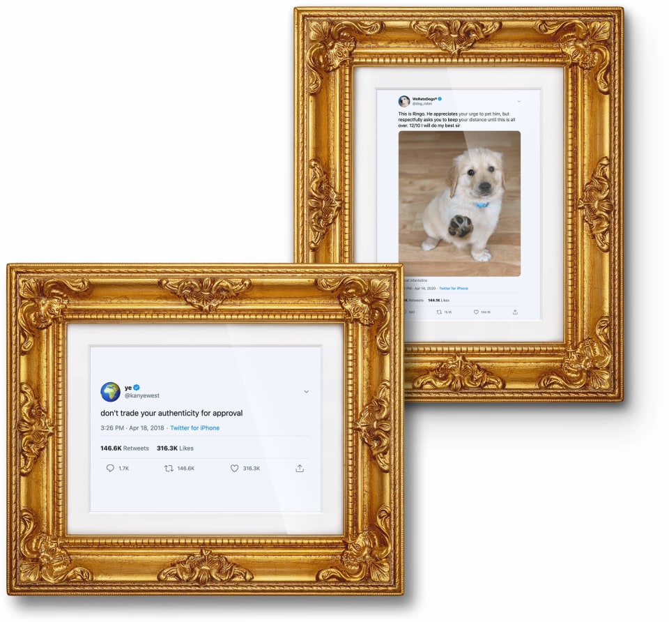 Two Framed Tweets