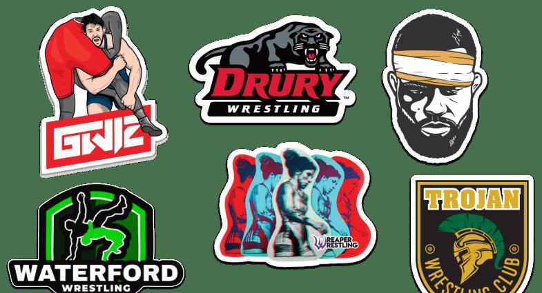 Logos of US wrestling teams